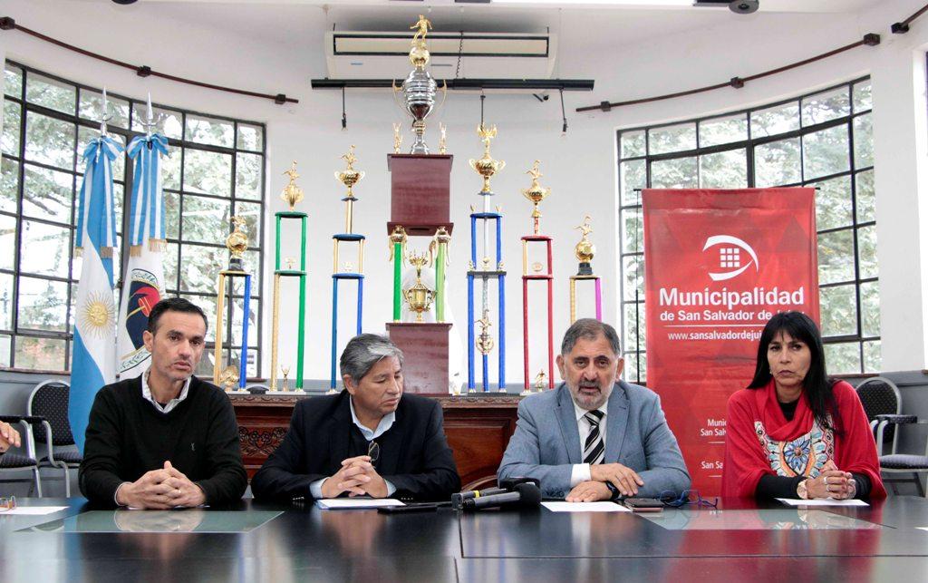 Jorge, Córdoba, Conde y Toconás en la presentación del evento