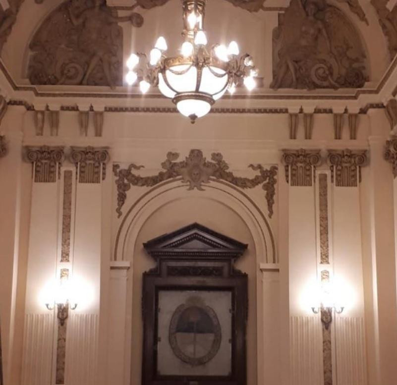 Salón de la Bandera en la Casa de Gobierno