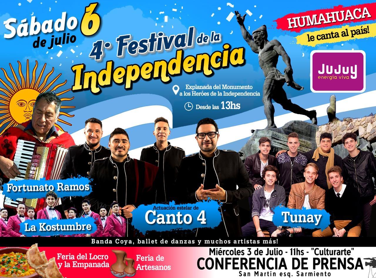 Invitación para el festival