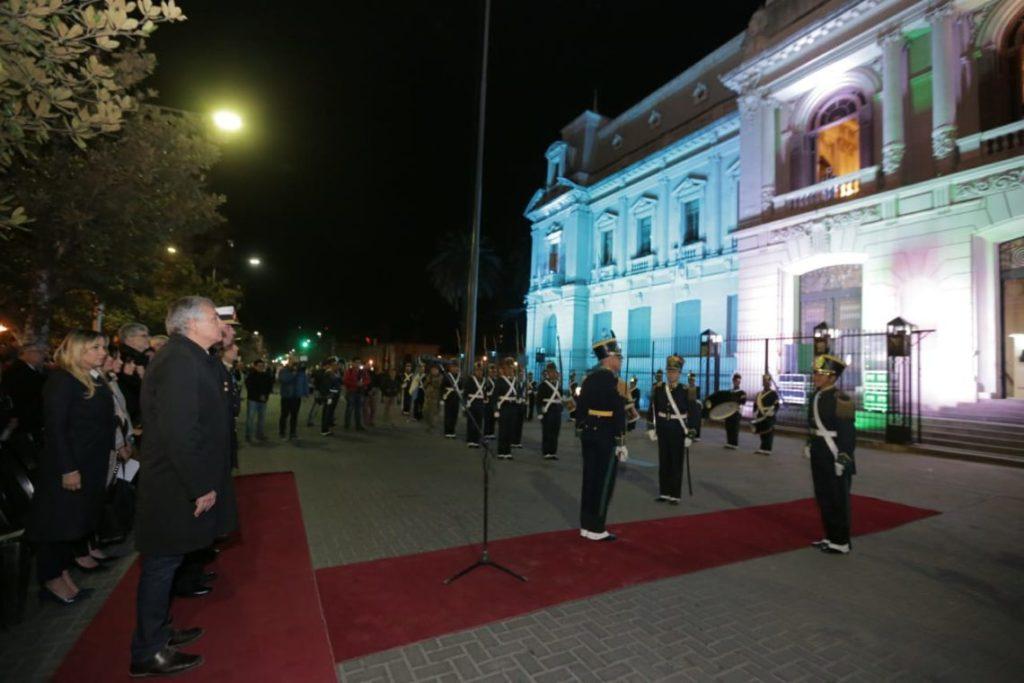 Momento de la actividad en Plaza Belgrano