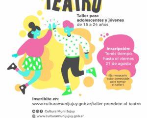 "Talleres virtuales: ""Préndete al teatro"""