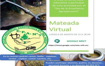Mateada virtual para celebrar el Día de la Enseñanza Agropecuaria