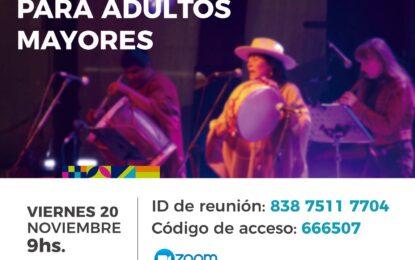 """Peña virtual para adultos mayores"""