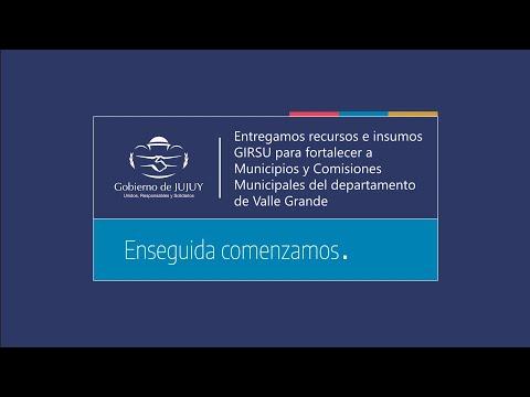 En Valle Grande entregamos recursos GIRSU para fortalecer a Municipios y Comisiones Municipales