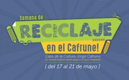 """Ambiente: Semana del reciclaje en la Casa de la Cultura """"Jorge Cafrune"""""""