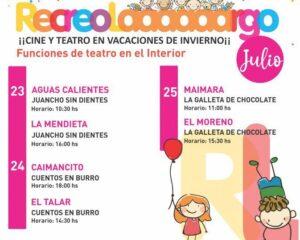 """""""Recreo Largo"""": Comenzarán las funciones de teatro infantil en el interior"""