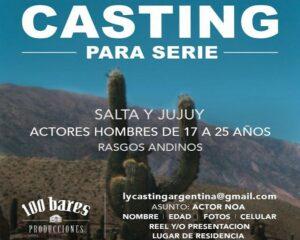 """""""Casting"""": Buscan hombre joven de rasgos andinos para serie"""